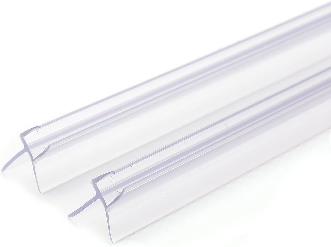 Junta para Mampara de Ducha PVC Burlete mampara de baño Ducha Vierteaguas para Vidrio de 4-6-8mm 2pcs 90cm(para Vidrio 4-6mm): Amazon.es: Hogar
