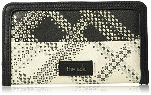 (The Sak Unisex Iris Slim Wallet,  Black/White Floral Plaid, One Size )