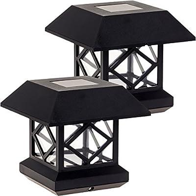 GreenLighting Outdoor Summit Solar Post Cap Light 2 Pack