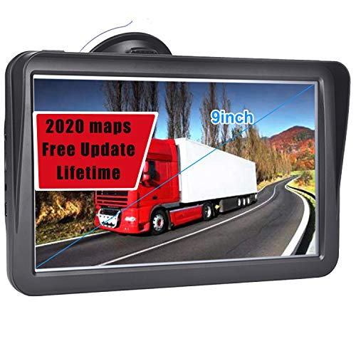 GPS Navigation for Car, 9 inch Touch Screen Real Voice Spoken Turn-by-Turn Direction Reminding Navigation System for Cars, Truck Height Limit Prompt pre-Installed(with Free Lifetime Map Update)