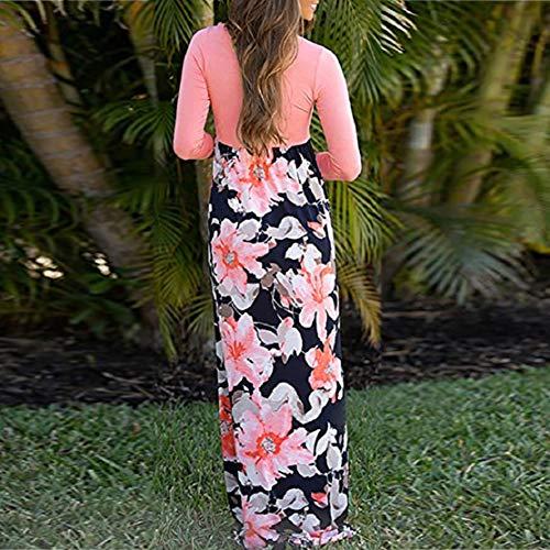 Women Long Gown Summer Beach Sleeveless Sundress Boho Floral Print Dress Maxi Dress by Lowprofile by Lowprofile Dress (Image #3)