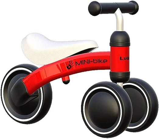 Bicicleta sin pedales Bici Mini Bicicleta para niños pequeños - Juguetes Seguros para niños pequeños, Bicicleta de bebé para Regalo de cumpleaños, para 1/2 años, Azul/Rosa/Rojo (Color : Red): Amazon.es: Hogar