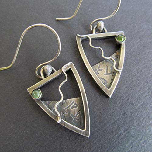 Layered Dangle Earrings Green Tourmaline- Diana Anton Jewelry Design -