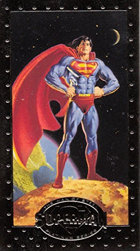 (SUPERMAN THE MAN OF STEEL PLATINUM SERIES 1994 SKYBOX EMBOSSED WIDEVISION PROMO CARD SP1 DC)