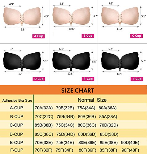 7089e835362d4 Womens Strapless Bra Backless Sticky On Bra Push Up Adhesive Bra Silicone  Invisible Bra for Dress
