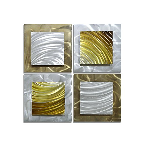 Pure Art Movement in Squares - Modern Metal Wall Art Decor -