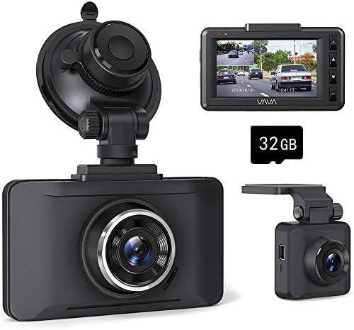 ドライブレコーダー 前後カメラ 1080Pフルhd高画質 駐車監視 32GB SDカード付き Gセンサー 衝撃録画 WDR スーパー暗視 140度広角 LED信号対応 ループ録画 SONYセンサー 常時録画 過労運転警告