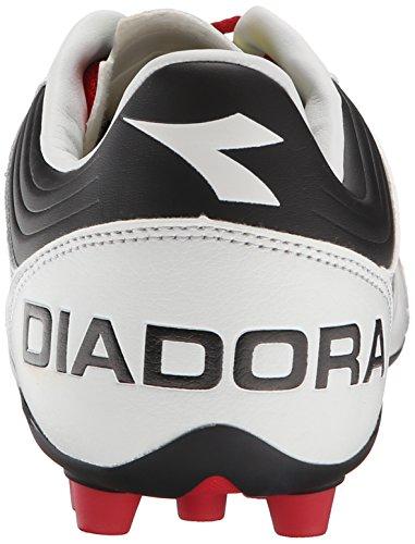 Diadora Mens Italica 3 Lt Md 25 Fotboll Cleat Vit / Svart
