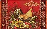 Toland Home Garden Fall Rooster 18 x 30 Inch Decorative Floor Mat Seasonal Autumn Harvest Thanksgiving Doormat