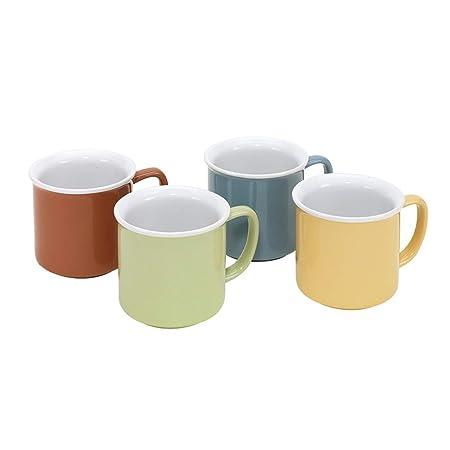 Juego de 4 tazas kaffeetasssen CA 355 ml cerámica Lavavajillas y microondas