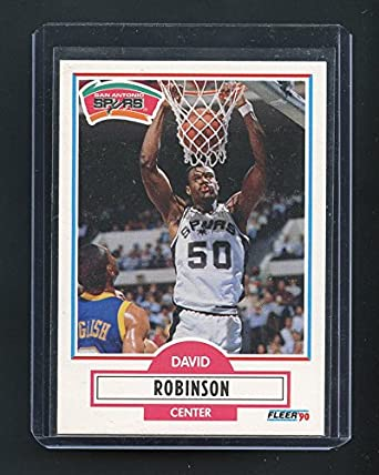 1990 91 Fleer 172 David Robinson San Antonio Spurs Rookie Card Mint Condition Ships In A Brand New Holder