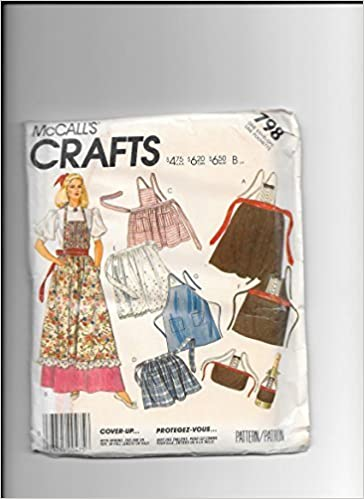 Mccalls 798 Sewing Pattern for Bib or Half Aprons, Tuxedo Apron ...