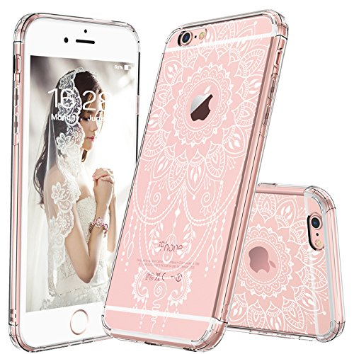 finest selection 3606c 9e926 MOSNOVO iPhone 6S Case/iPhone 6 Case, White Henna Mandala Tattoo Pattern  Printed Clear Design Transparent Back with Soft TPU Bumper Protective Case  ...