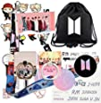 Rehero BT Boys Gifts Set for Fans - Map of The Soul Personal, Including Darwstring Bag, Lanyard, Face Mask, Phone Ring Stand, Stickers, Keychain, Pen, Button Pins
