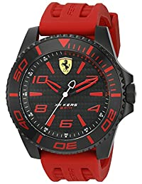 Ferrari Men's 'XX Kers' Quartz Stainless Steel and Silicone Casual Watch, Color:Red (Model: 0830308)