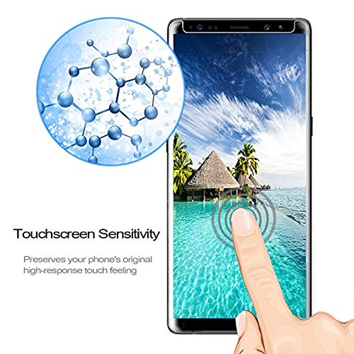 [2-Pack] Samsung Galaxy Note 9 Screen Protector, Caerrn 3D Screen Coverage Glass [Curved] [Bubble-Free] [9H Hardness] [Anti-Scratch] Tempered Glass Screen Protectors Galaxy Note 9 by LuettBiden (Image #4)