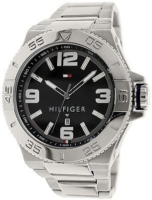 (Tommy Hilfiger Men's 1791038 Analog Display Quartz Silver Watch)