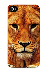 Tough Iphone KOcNhJx5173tkjWk Case Cover/ Case For Iphone 4/4s(lion Female)