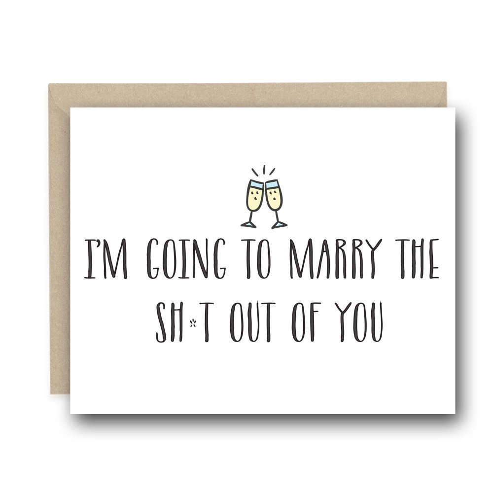 On Our Wedding Day Card - Im Going To Marry The Sh*t Out of You