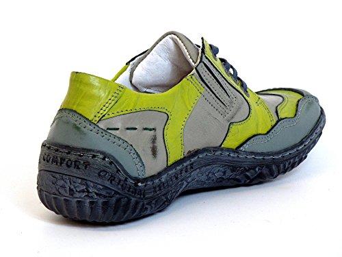 Kristofer Damen Schnürschuhe grau-kombi (grau) 2065 Grau-Kombi
