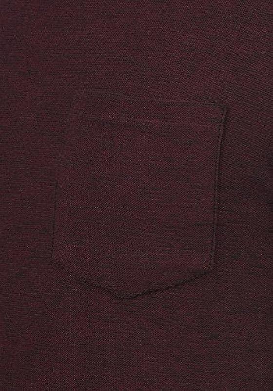 Blend Gan męski sweter z dzianiny z okrągłym wycięciem pod szyją i kieszenią na piersi: Odzież