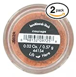 courage (PACK OF 2) Bare Minerals / Bare Escentuals COURAGE Blush (41554) Makeup. Ultra-light & perfectly blends onto skin! PURE BLEND OF 100% NATURAL MINERALS! (Pack of 2 Compacts, .02oz Each)