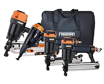 Freeman P4FRFNCB Framing/Finishing Combo Kit with Canvas Bag, 4-Piece