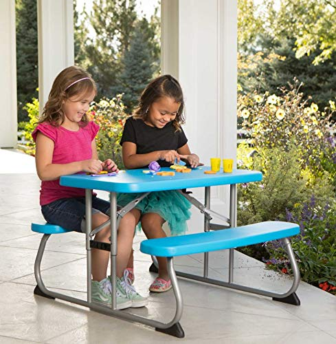 Home Joy Picnic Table for Kids Toddlers Set Bench 4 Seats Folding Outdoor Garden Backyard Patio Poolside Furniture