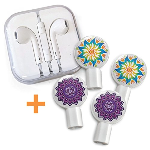 Deka Pack - DekaSlides Earbuds & Combo Pack Mandala Flower & Purple Mandala