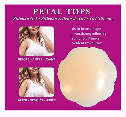 Silicone Petal Tops - Braza Silicone Gel Petals-Beige-2 ct