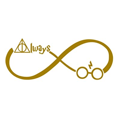 "CCI Always Harry Potter Infinity Decal Vinyl Sticker|Cars Trucks Vans Walls Laptop (Gold, 7.5""): Automotive"