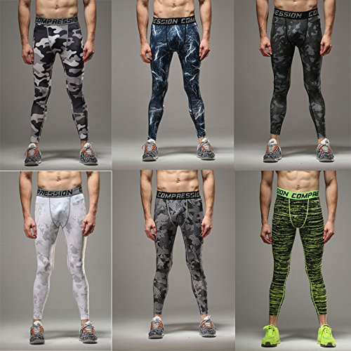 ee7adc385a56a Galleon - COOLOMG Compression Pants GYM Running Tights Length Pants Leggings  For Men Youth Boy