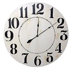BrandtWorks Dfh-050 Oversized Farmhouse Wall Clock, 50 x 50, Distressed White