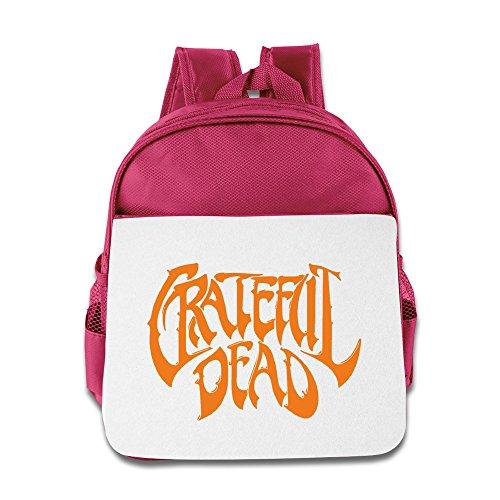 Hello-Robott Grateful Skull School Bag Backpack Pink