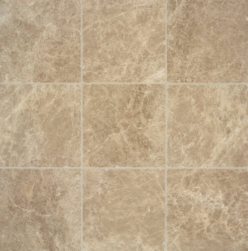 (Arizona Tile 6 by 6-Inch Tumbled Marble Tile, Emperador Light, 6-Total Square Feet)