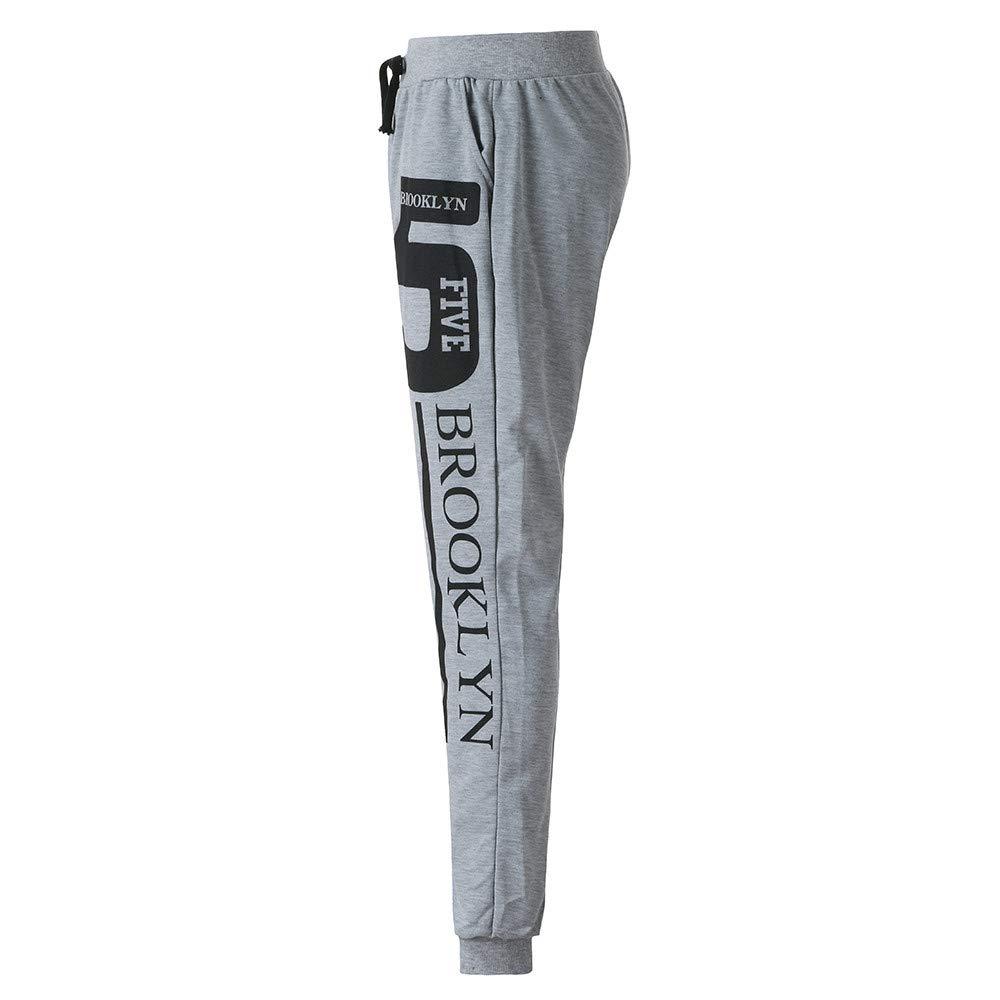 FANOUD Jogger Pants Sport Print Pants Casual Solid Loose Sweatpants Trousers Fashion Men's Trousers