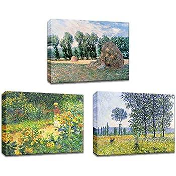 Sunlight Under The Poplars by Claude Monet Landscape Trees Blue  22x28
