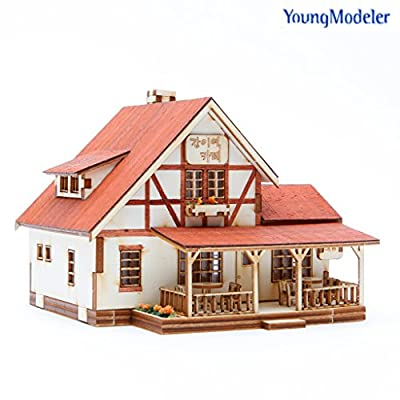 Desktop Wooden Model Kit A cafe at a whistle stop: Toys & Games