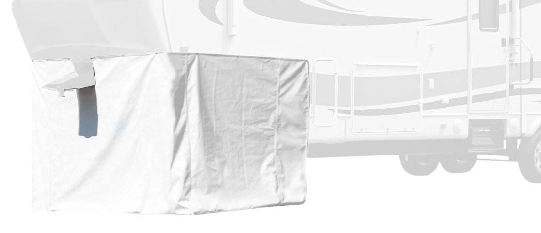 ADCO 3503 Storage Skirt for 5th Wheel RV Trailer, 296 Inch Length, Polar White by ADCO