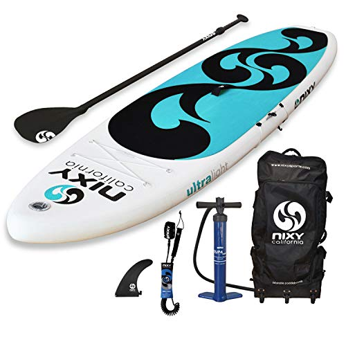 SUP NIXY Inflatable Stand Up Paddle Board for Beginners and Yoga. Ultra Light 10 6 Venice Pink White Paddle Board Built with Advanced Fusion Laminated Dropstitch Technology