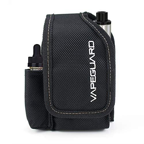 Vapeguard Vape Case Travel Holder - Vapor Carrying Bag, Vaping Organizer Pouch. Carry with Belt Clip, Carabiner or Lanyard, for Box Mods, Battery, Charger, e-Juice, Tank, Kit, Supplies, Accessories. (Best Vape Tank And Battery)