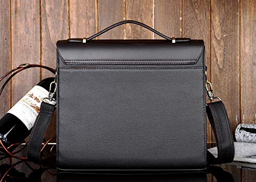 a7bf97b1fe2a Amazon.com  MESIDA Polo Men s Genuine Leather Briefcase Business Laptop Bag  Shoulder Messenger Bag Fashion Men s Handbag Briefcases Luxury Leather ...