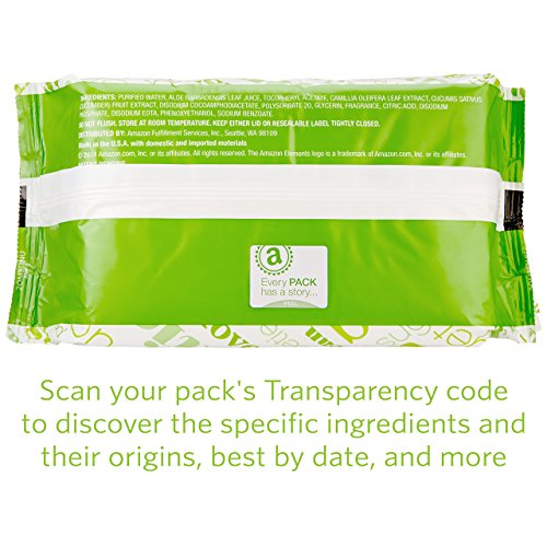 Amazon Elements Baby Wipes, Fresh Scent, 480 Count, Flip-Top Packs by Amazon Elements (Image #7)