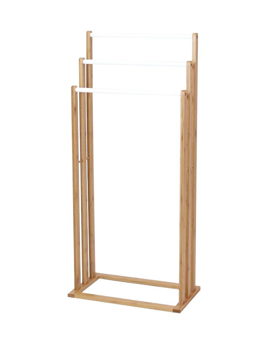 Pier Surplus Two Tone Free Standing 3-Bar Towel Drying Rack Holder Product SKU: HD227583