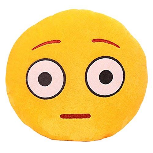 aokbi 2017 Cute Emoji patrón diseño 32 cm * 32 cm suave peluche emoticon smiley Ronda cojín de peluche de juguete muñeca almohada (estilo C): Amazon.es: ...