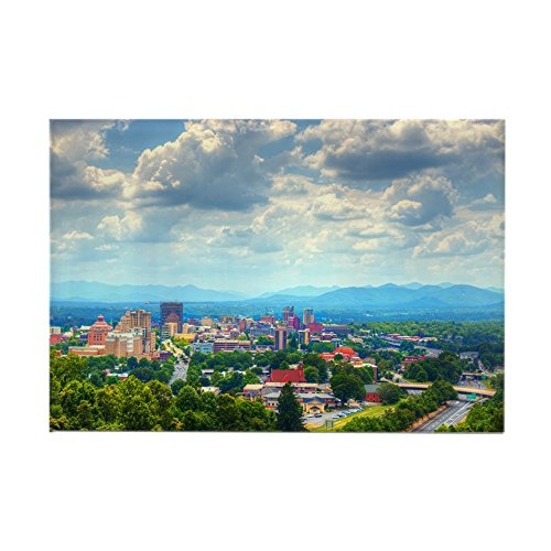 CafePress - Asheville, North Carolina Skyline - Rectangle Magnet, 2