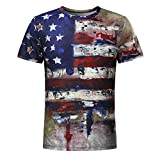 Soldier Short Sleeve for Men American Flag Plus