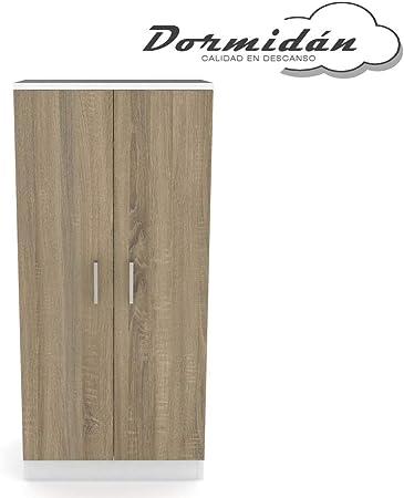 Dormidan- Mueble Zapatero 2 Puertas, Armario, Gran Capacidad (Blanco Puertas Robles) …