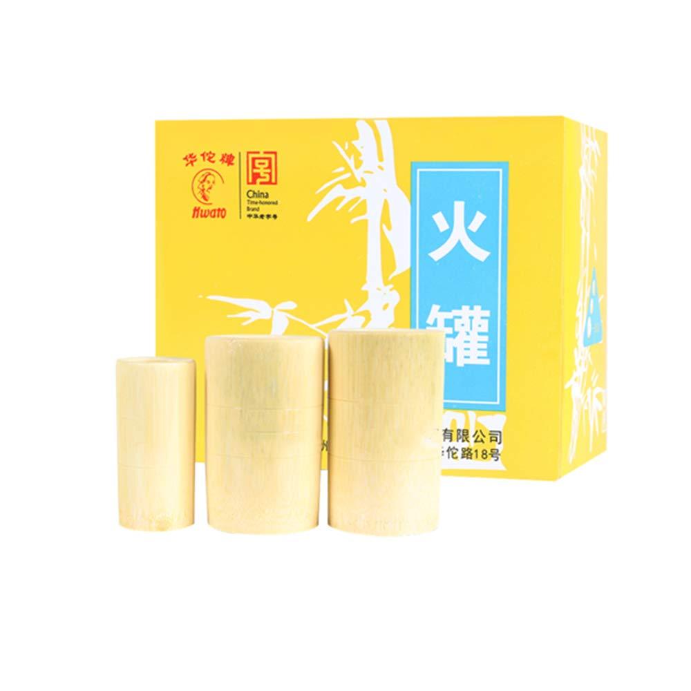 WOWGOGO Quality Bamboo Wood Pot Bamboo Cupping jar kit Tube 9pcs Tank/Set fire Cupping by WOWGOGO