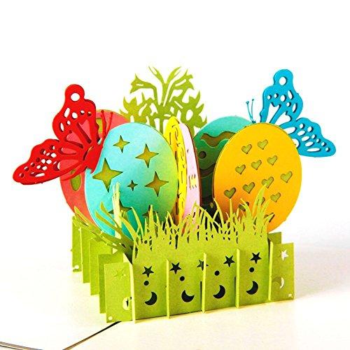 Easter Postcard (Paper Spiritz Easter Basket Greeting Card, Easter Cards, Pop Up Cards, Religious Easter Cards, 3-D Easter Cards, Pop Up Greeting Cards)